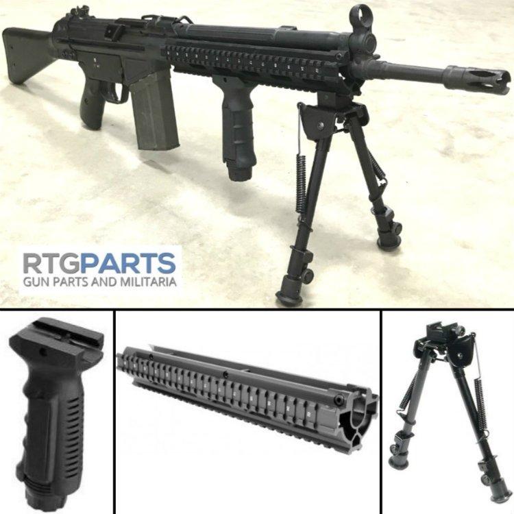 COMBO G3 PTR91 TRI-RAIL HANDGUARD W/ BIPOD AND GRIP