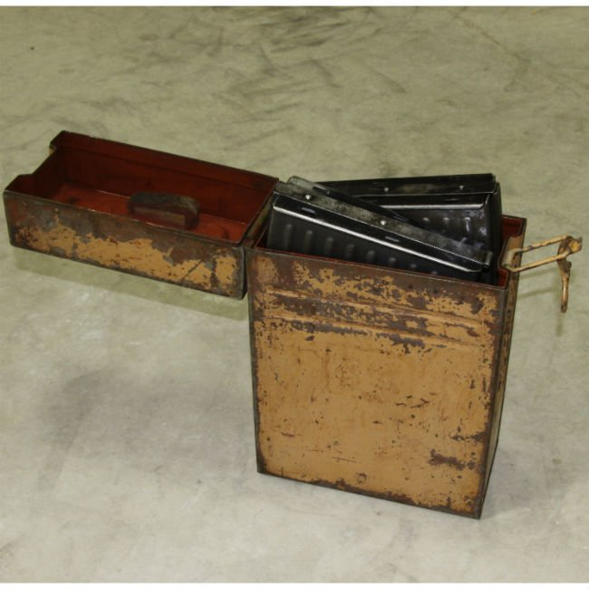 wwii german flak 38 magazine container with magazines just one in stock rtg parts. Black Bedroom Furniture Sets. Home Design Ideas