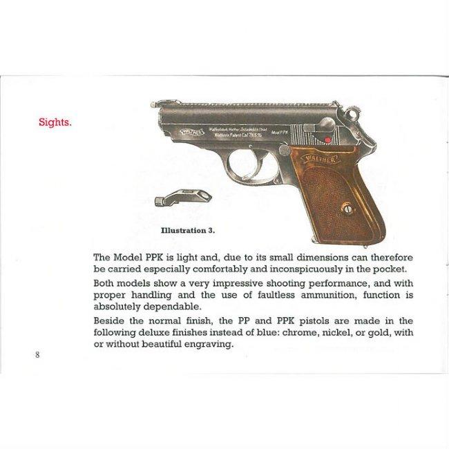 walther pp ppk operators manual in english reprint of original rh robertrtg com Walther Pak Walther PPD