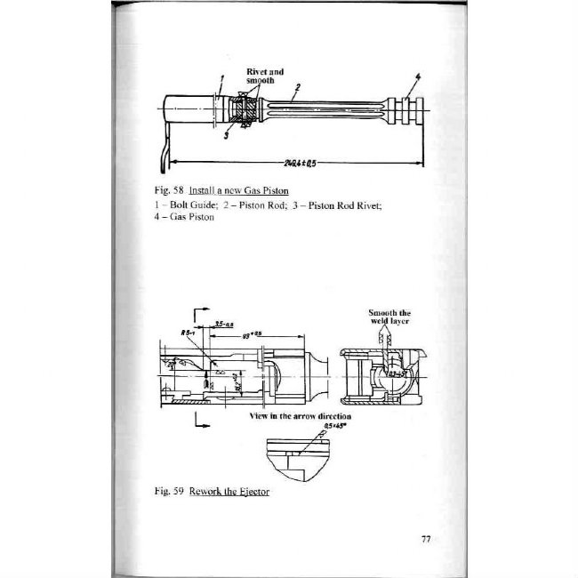 AK47 REPAIR MANUAL, DDR EAST GERMAN ISSUE IN ENGLISH on