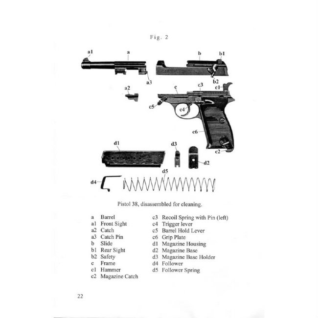 P38 MANUAL, WWII GERMAN ARMY ISSUE IN ENGLISH