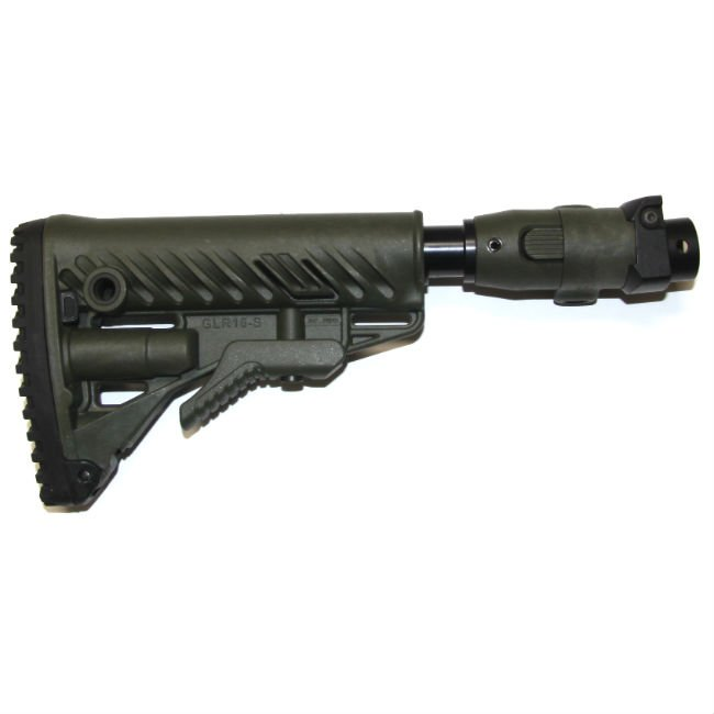 GALIL AR/SAR RECOIL REDUCING M4 FOLDING COLLAPSIBLE BUTTSTOCK, OD GREEN