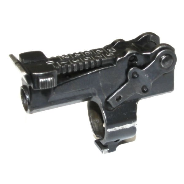 SKS REAR SIGHT WITH BASE AND GAS TUBE RELEASE LEVER