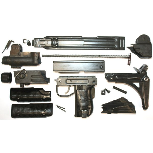Uzi Parts Kit with Receiver Sections and trunnion, Folding