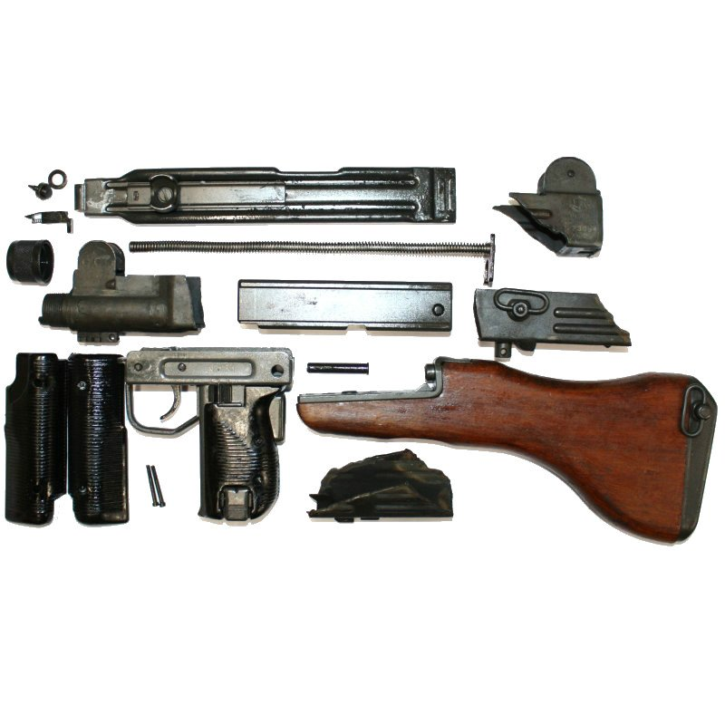 DELUXE UZI SMG PARTS KIT, WOOD STOCK